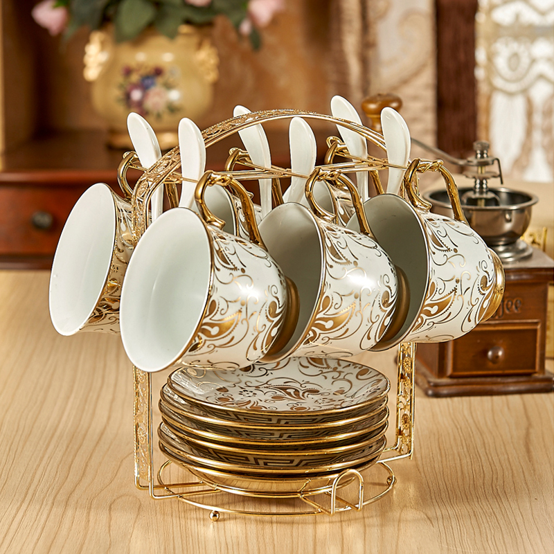 Europe Ceramic Tea Cup British side Bone China Coffee Cup Set with dish sugar bow lAdvanced Porcelain Home Teacup Gifts