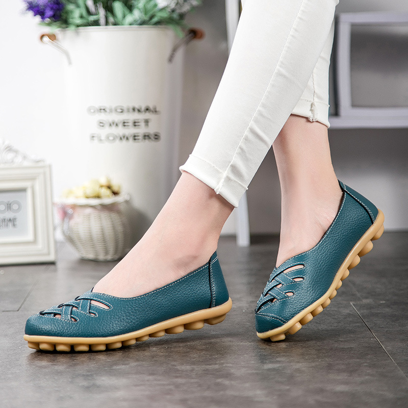 Zapatos planos Mujer Verano Nueva moda cuero genuino Mujer Zapatos - Zapatos de mujer