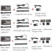 Orginal SINO SDS6 3V 3 Axis digital readout  dro W 5micron KA300 linear scale  KA500 linear encoder complete dro kits