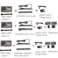 Oryginalny SINO SDS6 3V 3 osi odczyt cyfrowy dro W 5 mikronów KA300 skala liniowa KA500 enkoder liniowy kompletne zestawy dro w Przyrządy do pomiaru poziomu od Narzędzia na