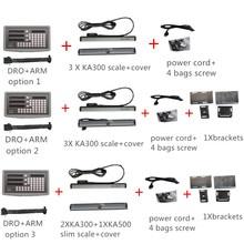 الوكالة SDS6 3V الصيني 3 محور قراءات رقمية درو ث 5 ميكرون KA300 KA500 المقياس الخطي التشفير الخطي dro كاملة أطقم