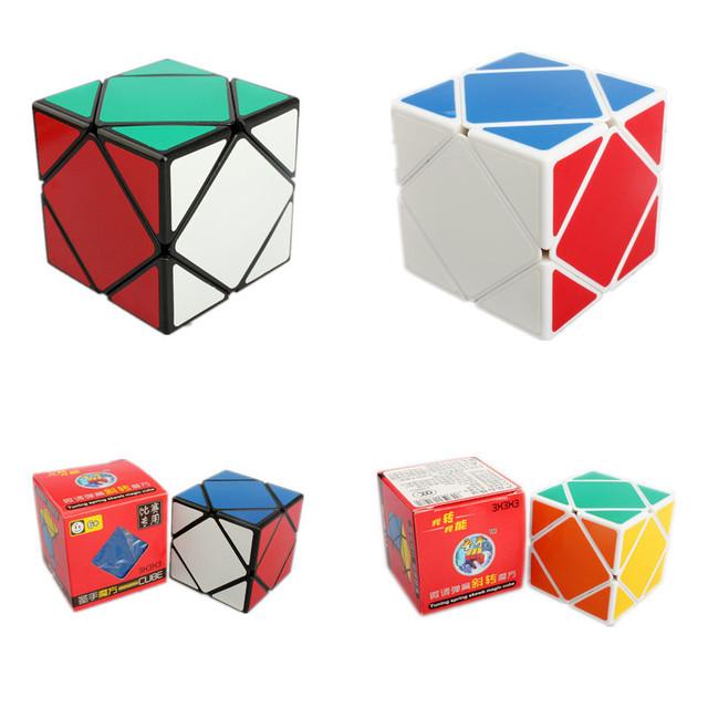 Shengshou Velocidad Skewb Cubo Mágico Rompecabezas 57mm Square Cube Cuatro Ejes Oblicuo Rotación Cubo Mágico Juguetes de Aprendizaje y Educación