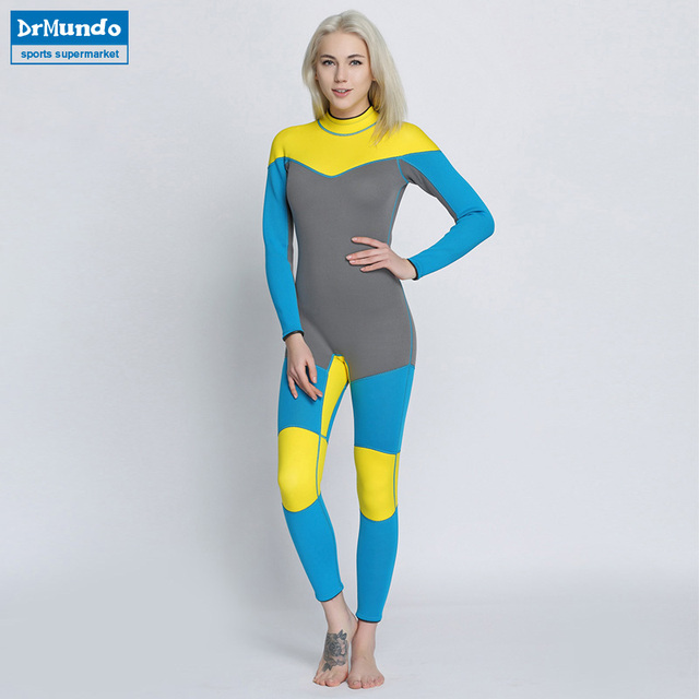 0fde163f25 Women s Spearfishing Wetsuit 3MM Neoprene SCR Superelastic Diving Suit  Waterproof Warm Professional Surfing Wetsuits Full Suit