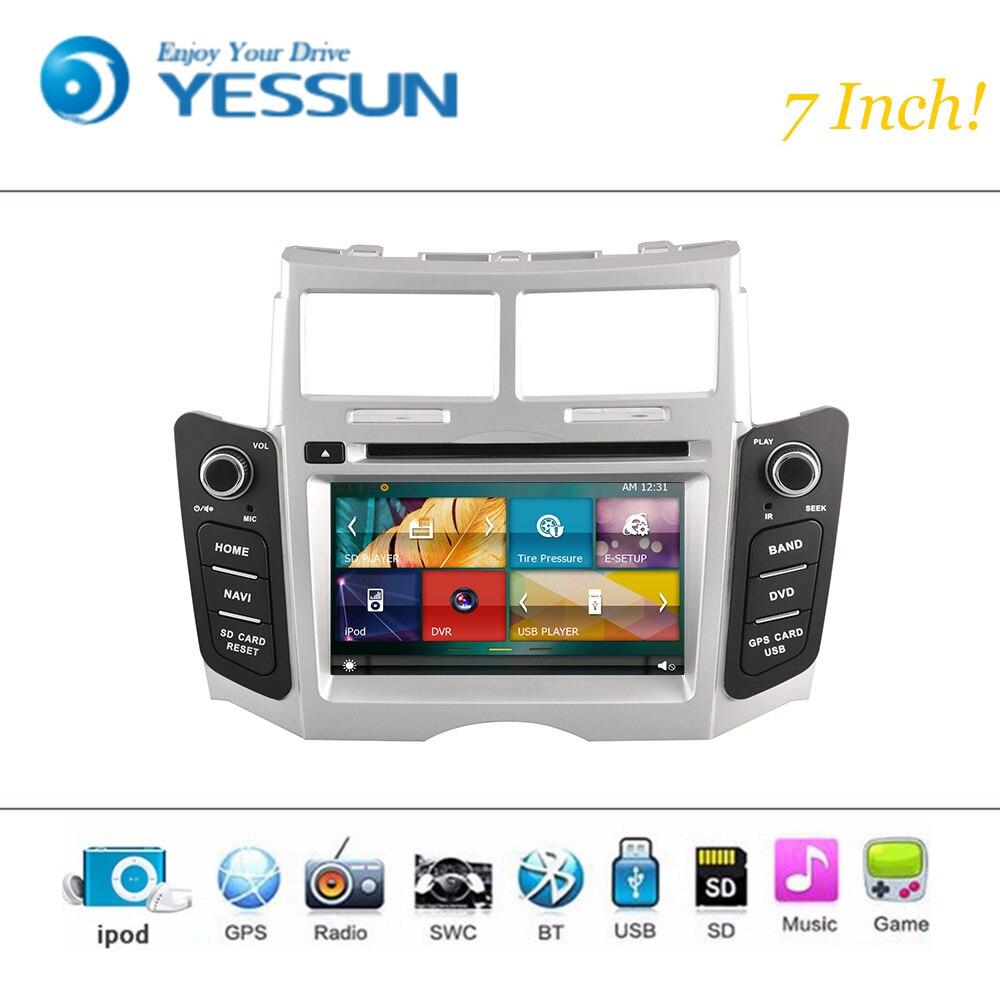 Car dvd player 1080p hd wince system for toyota yaris 2005 2011 autoradio car radio stereo gps navigation multimedia audio video