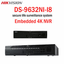 Hikvision CCTV 32CH NVR DS-9632NI-I8 12MP 4K Playback HDMI Output H.265 8SATA Dual-OS design at up to 4K For IP camera