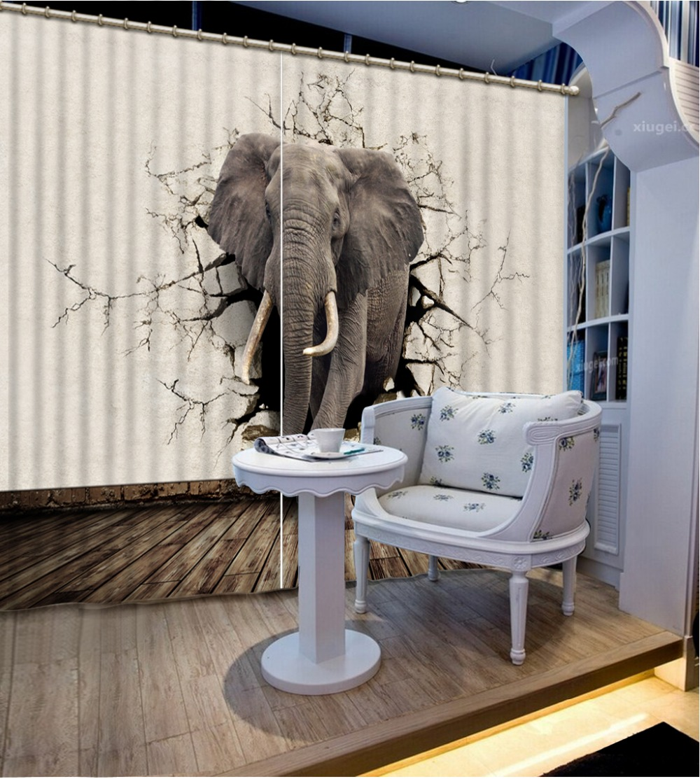Curtains for windows Photo elephant Blackout 3d Curtains Printing curtains for living room bedroomCurtains for windows Photo elephant Blackout 3d Curtains Printing curtains for living room bedroom