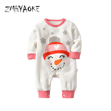ZMHYAOKE 2018 Winter Baby Clothes Pyjamas Sets Merry Christmas Warm Snow  Doll Pajamas for The Boy 26966f5a5