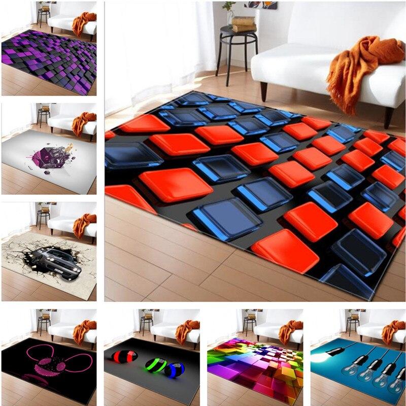 LIU tapis grand salon 3D personnalité Simple moderne nordique tapis chambre tapis Table à thé rectangulaire tapis de sol mode doux