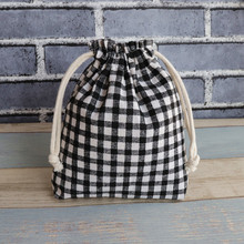 IVYYE 17CM Black White Cartoon Drawstring Bags Canvas Storage Handbags Makeup Bag Coin Bundle Pocket Purse NEW