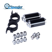 ESPEEDER Car Racing In Line Fuel Oil Filter With AN10 AN8 AN6 Fittings Adapter Black Blue And Fuel Pump Bracket Universal