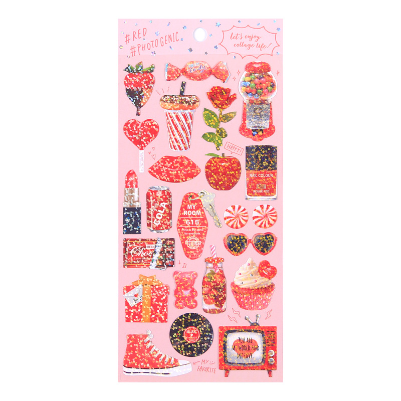 Image 5 - 20 sets/lot Kawaii Stationery Stickers Cute sparkling Diary Planner Decorative Mobile Stickers Scrapbooking DIY Craft Stickers-in Stationery Stickers from Office & School Supplies