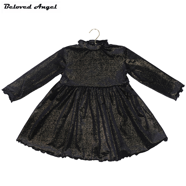 Newborn 9 Months - 4 Years Clothing 2017 Fancy Child Long Sleeves Dresses Baby Girls Kids Clothes Princess Party Costume Dress