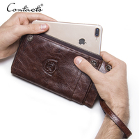 CONTACT S 2018 Men S Women Vintage Wrist Bag Luxury Hand Bag Wallet Phone Bags Travel