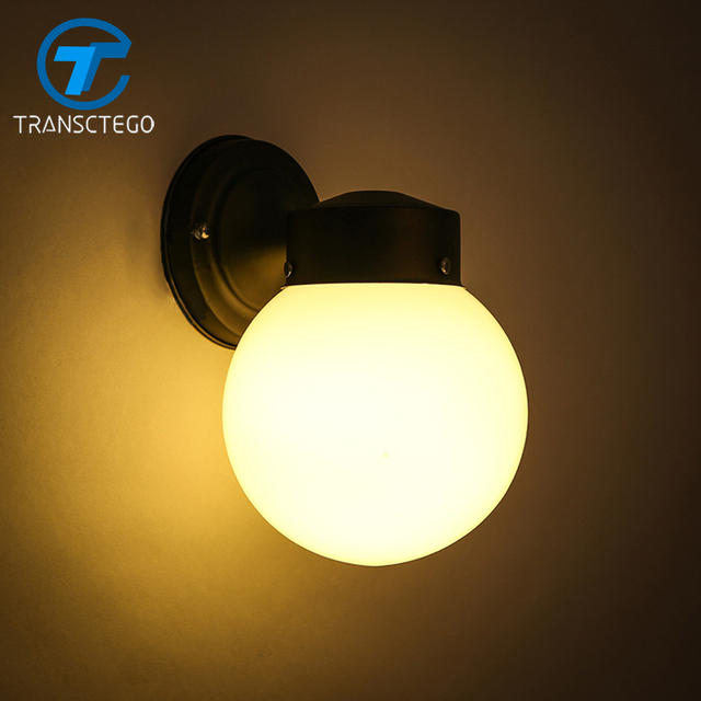 Mur Lampe applique murale luminaire Moderne Boule De Verre Allée
