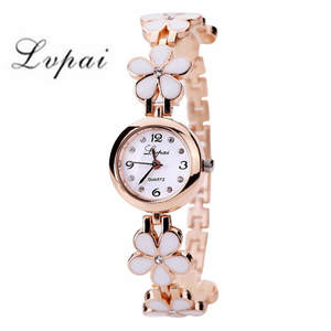 Bracelet Watch Flower-Band Rhinstone Feminino Femmes Fashion Luxury Brand Relogio LVPAI
