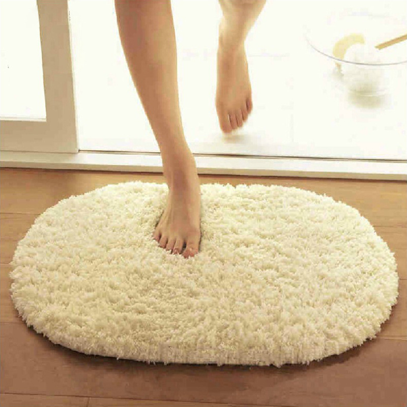 Hot Bathroom Carpets Absorbent Soft Plush Doormat Floor Rugs Welcome Carpet  Oval Non slip Bath. Online Get Cheap Rubber Backed Area Rugs  Aliexpress com   Alibaba