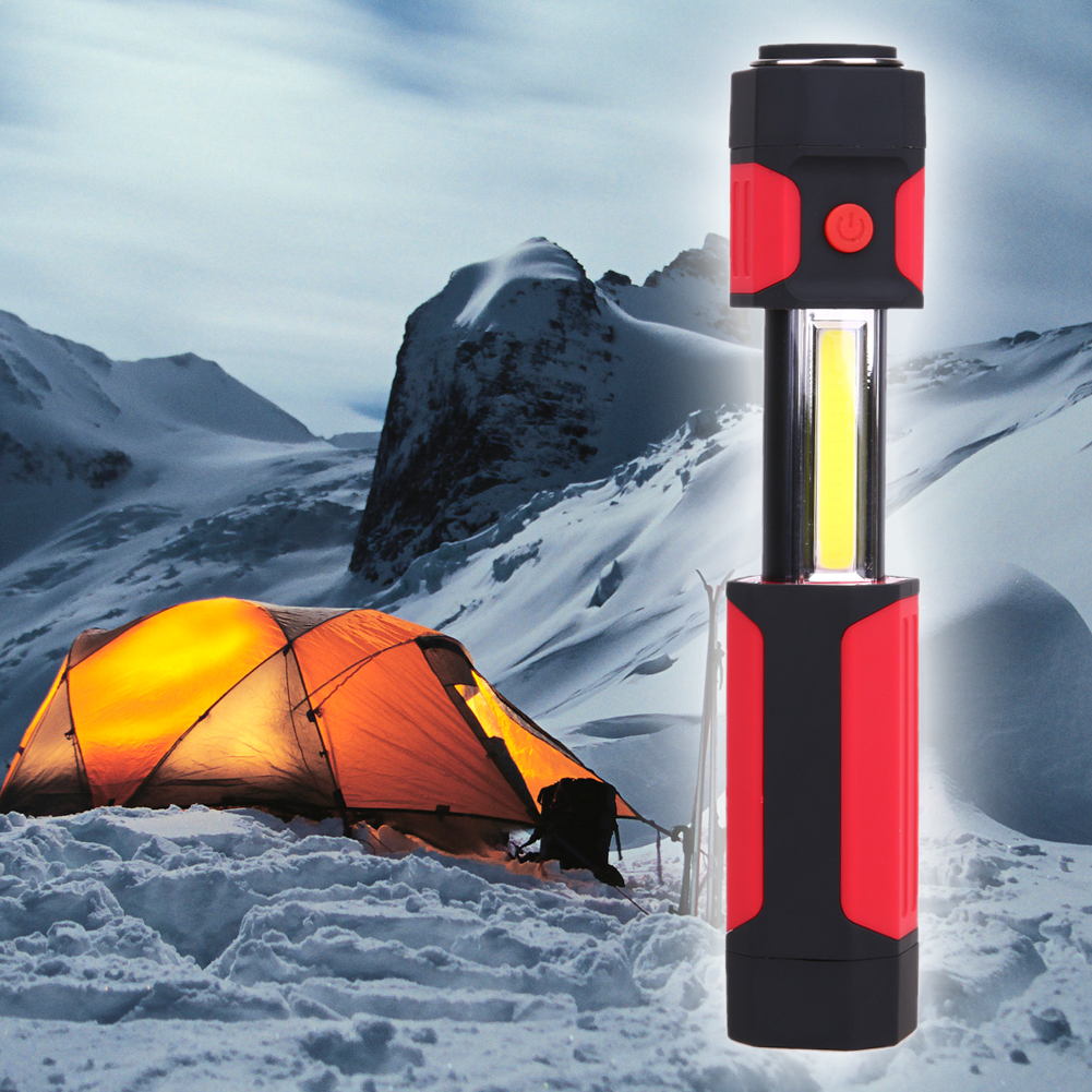 3W COB LED Stretchable Flashlight Torch Lamp Camping Light wiith Magnet Tent Security Emergency Light 150*35*35MM/106g