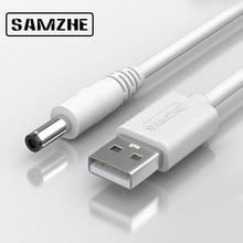 SAMZHE USB для постоянного тока Кабель 5 в 3 А кабель для зарядки и передачи данных 5,5 мм для музыкального проигрывателя старая версия телефонов освещение компьютерные аксессуары