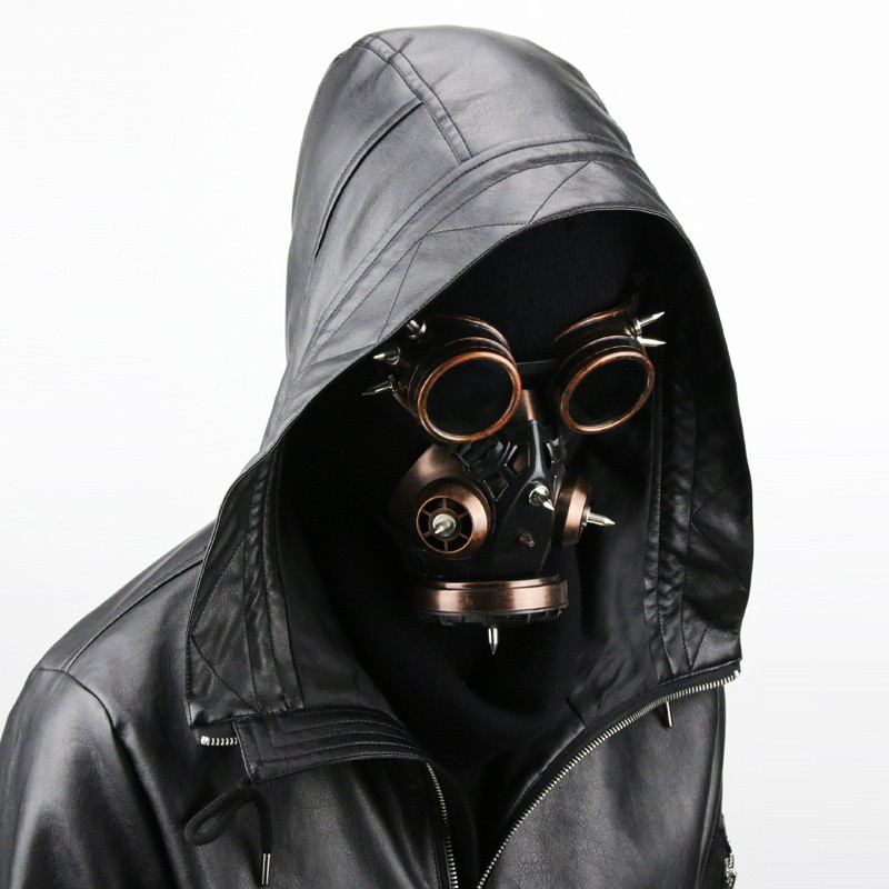 3e620ab6a US $46.32 20% OFF|Takerlama Unisex Cool Steampunk Military Goggles Vintage  Gas Respirator Mask Halloween Party Cosplay Punk Rock Gothic Accessory-in  ...
