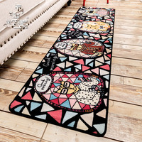 Promotion Door Floor Mat Zakka Slip Resistant Pad Bedroom Living Room Hall Carpet Foot Cloth Doormat