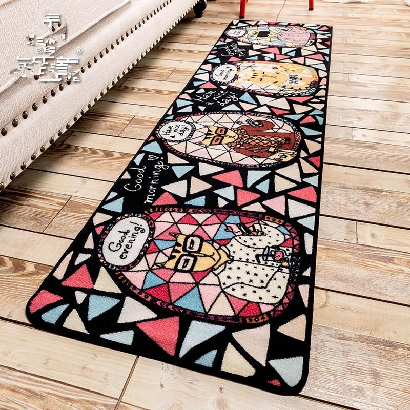 Promotion Door Floor Mat Zakka Slip Resistant Pad Bedroom Living Room Hall  Carpet Foot Cloth