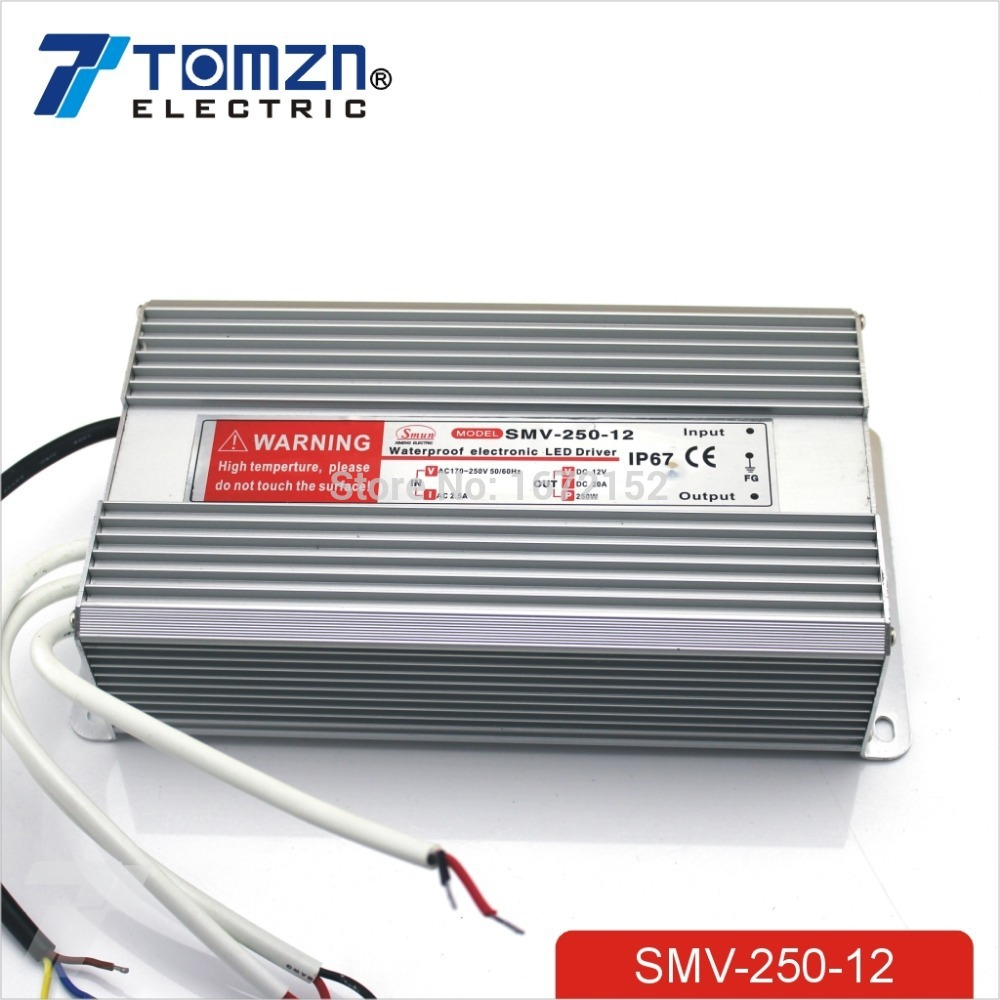 купить 250W 12V 20.8A Waterproof outdoor Single Output Switching power supply for LED по цене 2242.56 рублей