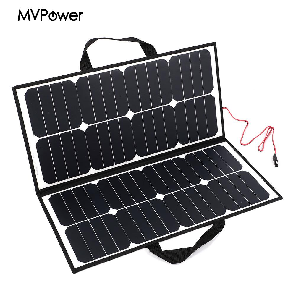 50W 18V Outdoor Camping Folding Solar Panel Board Charger For Battery Covenience