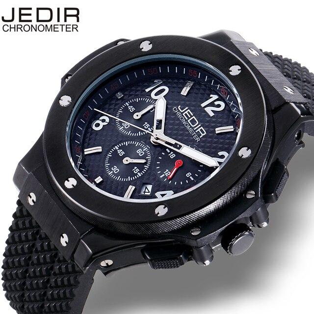 ef437926db49 Reloj hombres Top marca de los hombres populares relojes fecha cronógrafo  reloj deportivo hombres reloj silicona