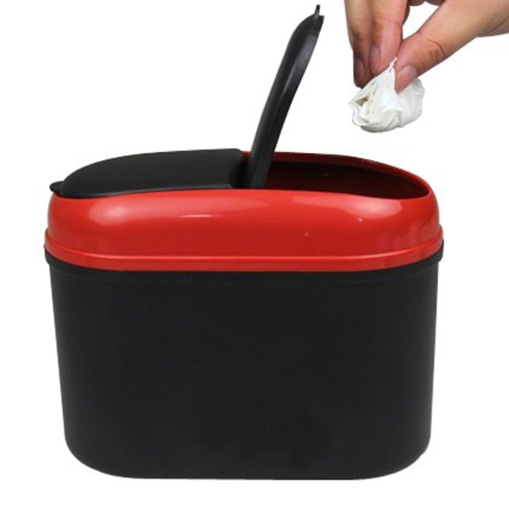 New Car Double Open Trash Can Multi function Compartment