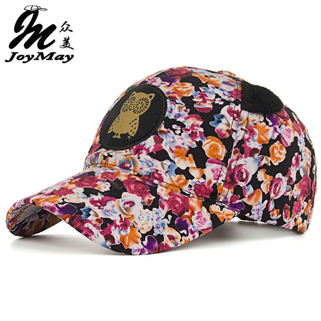2016 New Arrival Top quality fashion Women cap Colorful Cotton OWL flower Baseball Cap snapback Sport Adjustable Sunhat B342