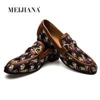 MeiJiaNa 2019 Fashion Comfortable Casual Shoes Loafers Men Shoes Quality Split Leather Shoes Men Flats Hot Sale Banquet Shoes