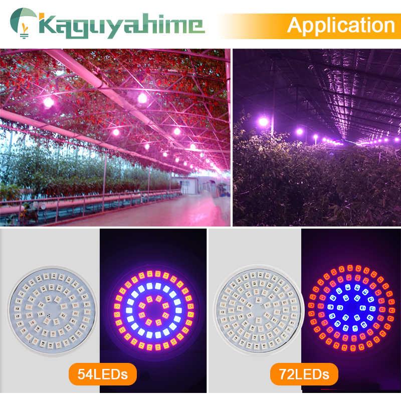 Kaguyahime 1/6pcs 72/200/260SMD LED Coltiva La Luce E27 MR16 GU10 220V Spettro Completo pianta Della Lampada HA CONDOTTO Il Riflettore Per Le Piante Idroponica