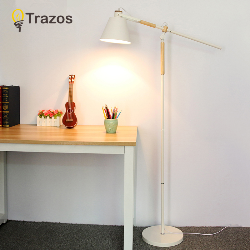 Modern Floor Lamp For Living Room European Fabric Lampshade Standing Lamp Floor Lighting Fixtures Free shipping aibiou white led floor lights for living room adjustable standing lamp black floor lamps modern reading lighting fixtures