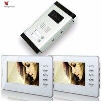 Yobang Security 7 Video Intercom Apartment Door Phone System 2 Monitor 1 Doorbell Camera For 2
