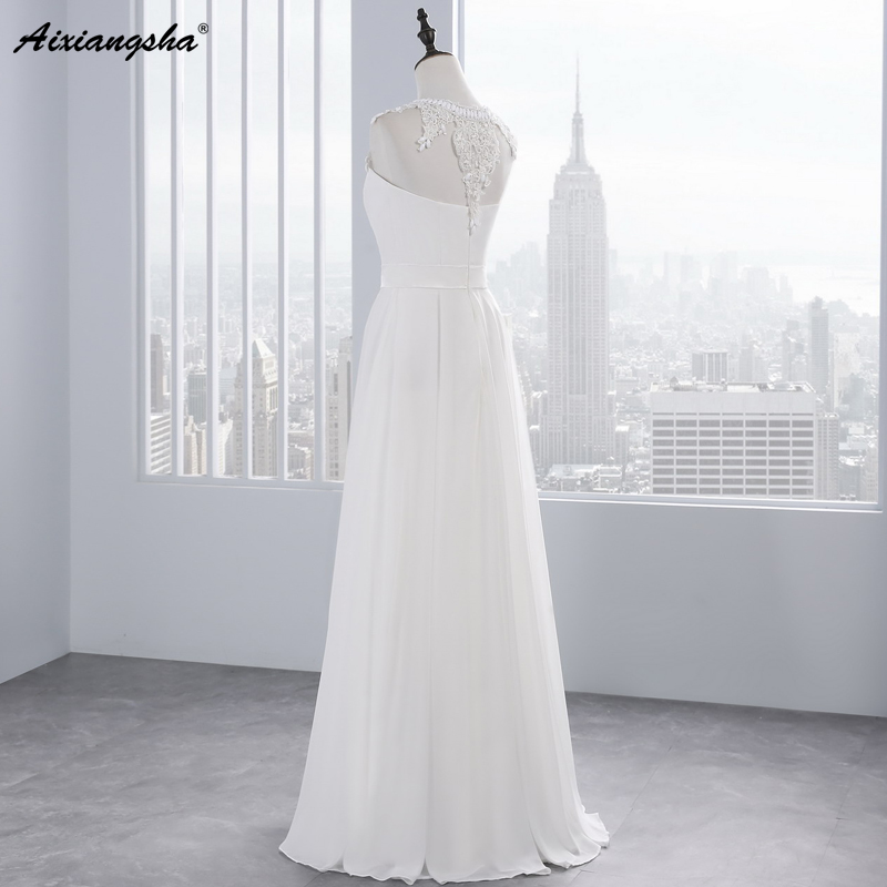 New Hot Selling Vestido de Noiva Casamento Robe De Mariage Scoop A-line lace Appliques Custom Made Wedding Dresses 3