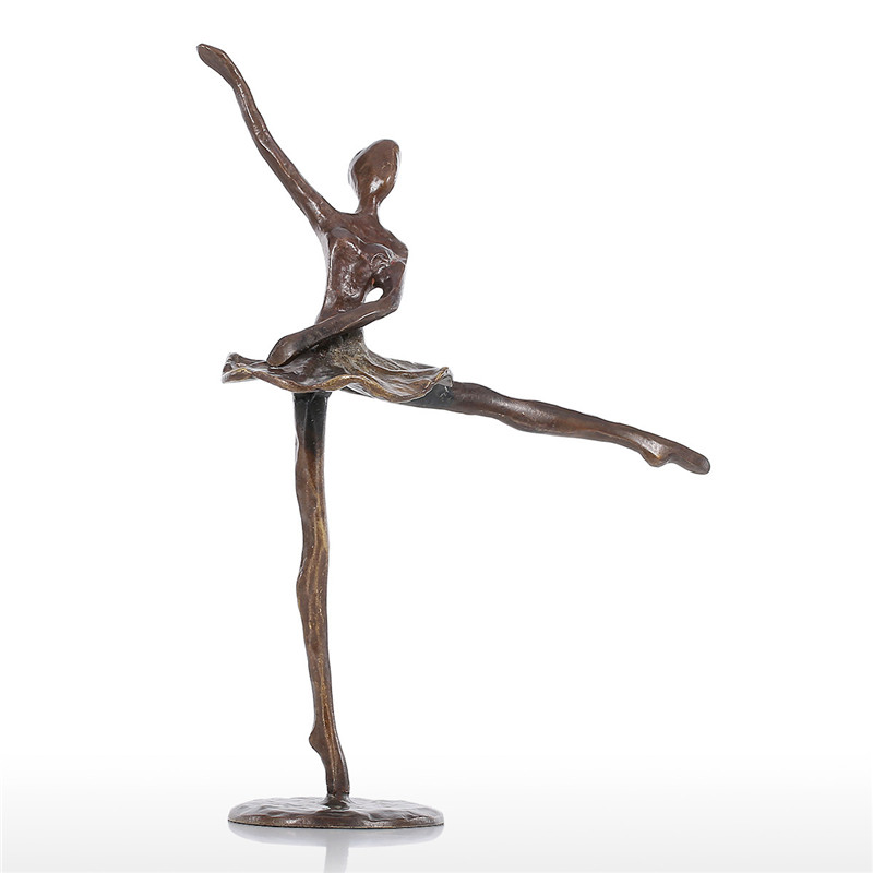 Baller Dance Statue Modern Bronze Sculpture Metal Statuette Home Decor Art Gift Figurines Home Decoration Accessories L3043Baller Dance Statue Modern Bronze Sculpture Metal Statuette Home Decor Art Gift Figurines Home Decoration Accessories L3043