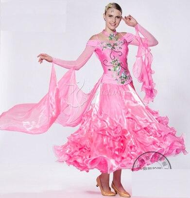 Customize Pink  Back Cutout Cha Cha Ballroom Waltz  Tango Salsa Fox Trot   Quick Step Competition Dance Dress