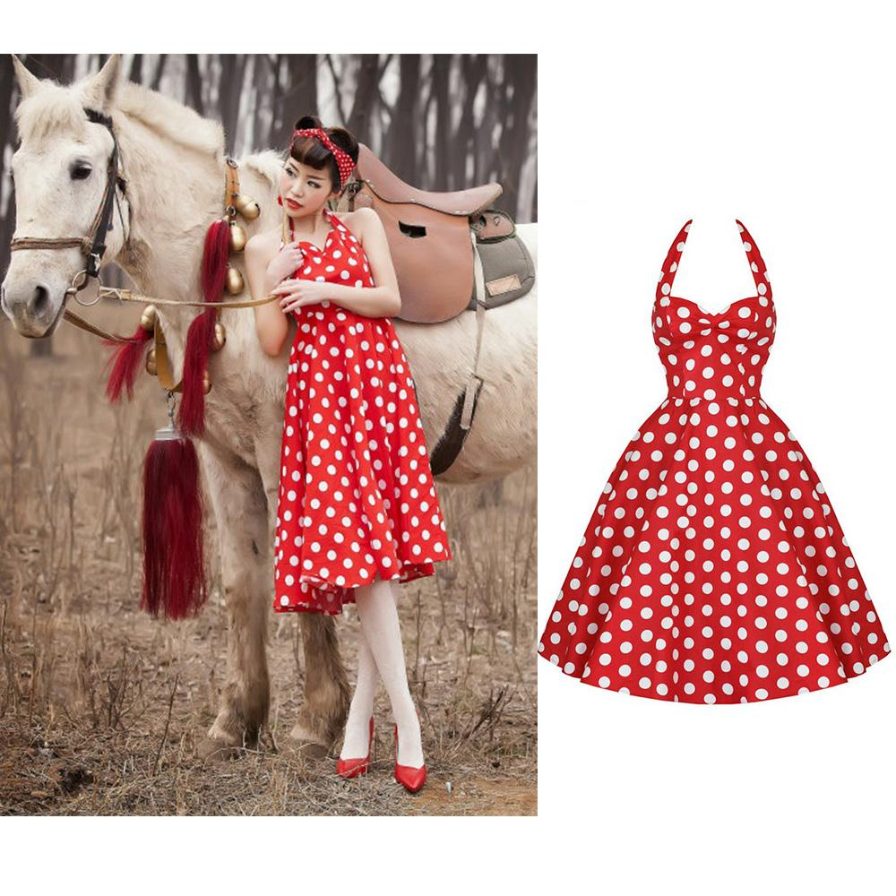 Halter neck 50 s style dresses
