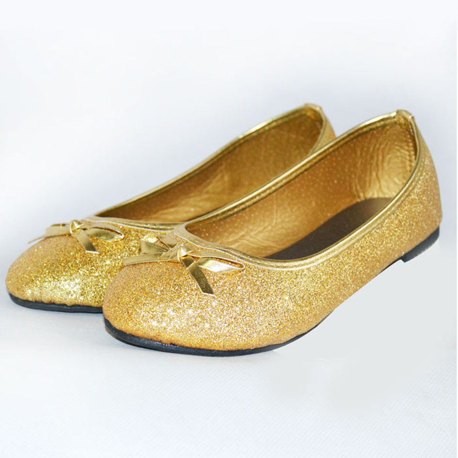 gold sparkly girls shoes cheap online