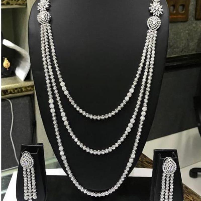 HIBRIDE mogę zaoferować ekskluzywne długi łańcuch cyrkonia ślubne dla nowożeńców dubaj zestawy biżuterii dla kobiet złoty luksusowy zestaw biżuterii N46 w Zestawy biżuterii od Biżuteria i akcesoria na  Grupa 1