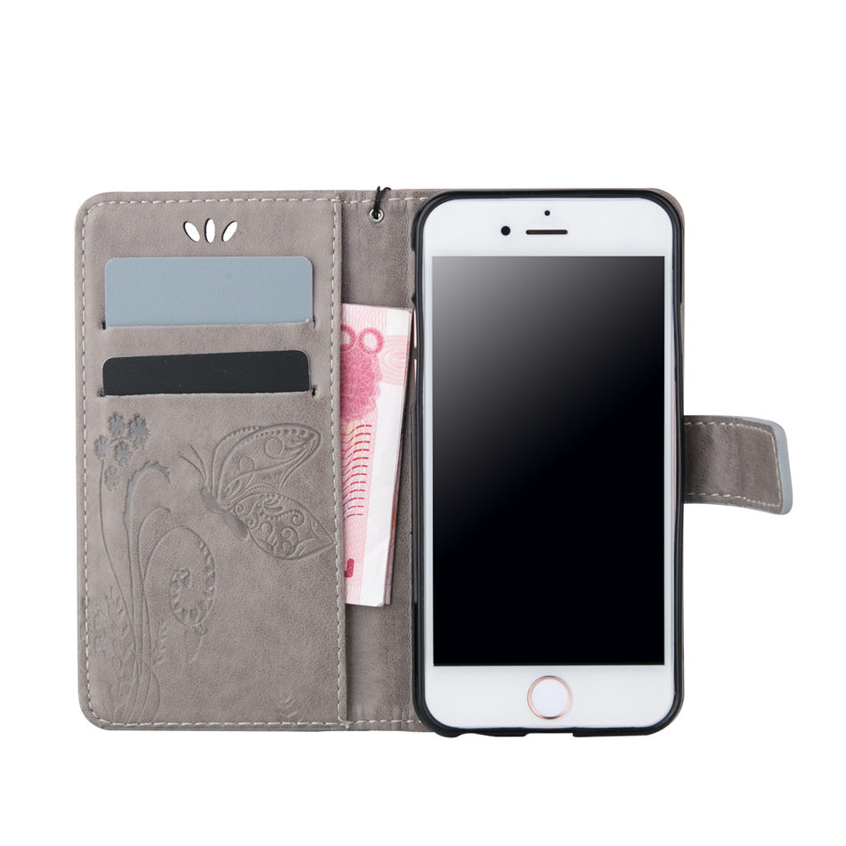 Retro Flip Case For Apple iphone X XR XS Max 8 7 6 6s Plus 5 5s SE 5C Case Simple Solid Color Leather Wallet Stand Cover DP02E in Flip Cases from Cellphones Telecommunications