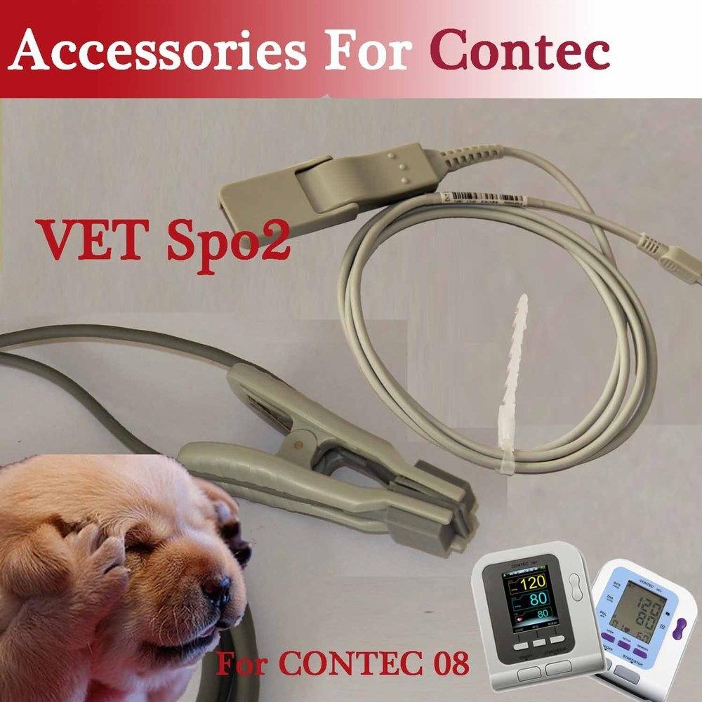 VÉTÉRINAIRE SPO2 Probe pour la marque CONTEC Moniteur de Pression Artérielle Numérique CONTEC08A/08C