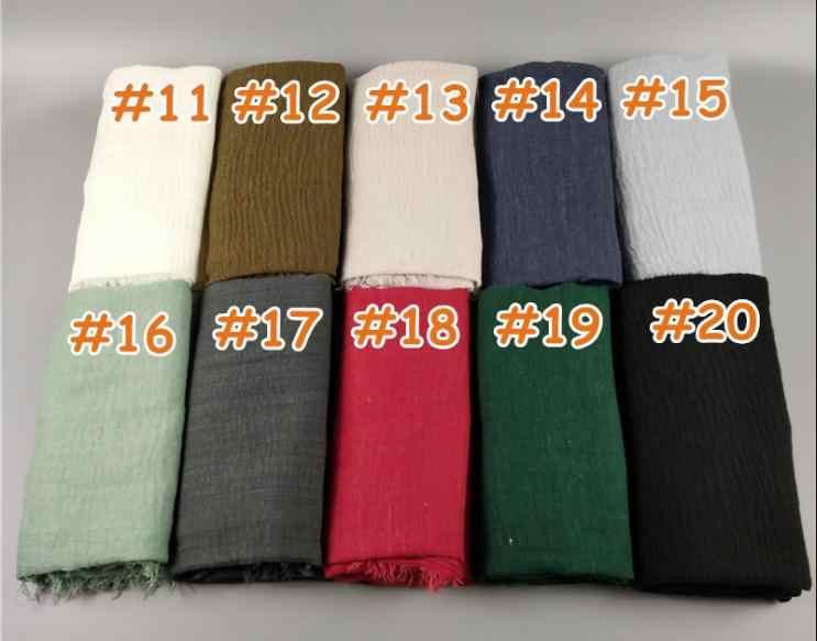 2018 г. Модные женские шарфы курчавость вискоза хлопок хиджаб шаль wrap 180*90 см 75 цветов шарф исламский мусульманин арабских дубай хиджабы