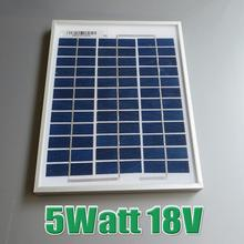 Hot Sale 5W 18V Polycrystalline silicon Solar Panel used for 12V photovoltaic power home system 5Watt WY