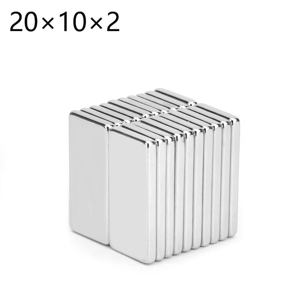 Lots 10 x Super Strong Block NdFeb Magnets Rare Earth Neodymium 20 x 10 x 5 mm