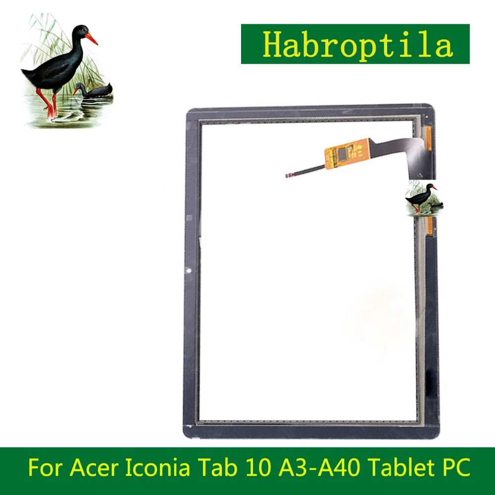 High Quality 10.1'' Inch Black For Acer Iconia Tab 10 A3-A40 Tablet PC Digitizer Touch Screen Panel Sensor Glass 10 1 for acer iconia tab 10 a3 a40 tablet pc touch screen digitizer glass panel with black frame replacement parts