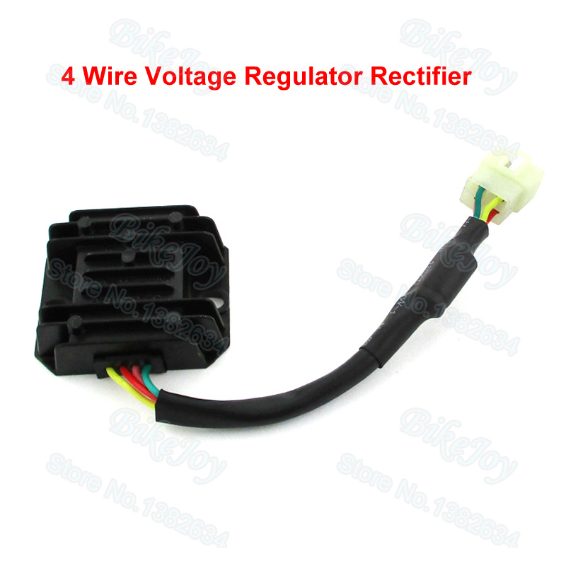 4 Wire Voltage Regulator Rectifier GY6 Moped Scooter 125 150cc ATV Pit Dirt Bike