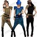 New Fashion Women Performance Costumes Bronzier hip hop set hiphop jazz female singer ds costume dance suits