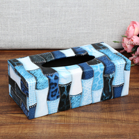 Remote Storage One Design High Grade Leather European Home Hotel Creative Storage Box Finishing Cloth Wood