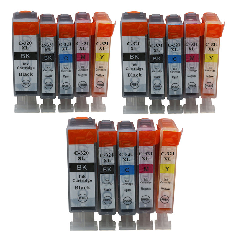 <font><b>Ink</b></font> <font><b>Cartridges</b></font> BCI 320 320xl 321XL Compatible For <font><b>Canon</b></font> Printers PIXUS iP3600 iP4600 MP540 MP620 <font><b>MP630</b></font> MP980 MX860 MX870 Inkjet image